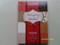 CRAFT / CARD MAKING BACKING PAPER PAD 4 DIFFERENT