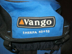 Vango Sherpa 50 + 10 Travelling Rucksack With Padding. Great Condition