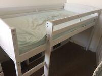 White wooden midi single Sleeper - perfect condition
