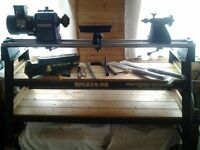 wood turning lathe make record cl2 36x18 with extras