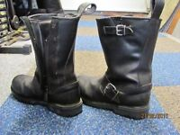 mens leather motor bike boots size 8