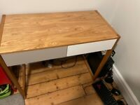 Oak Effect Childs desk with 2 drawers