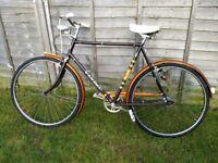 Vintage bicycle Brown Brothers vindec Atlantic roadster bicycle retro 1970's