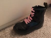 Dc Martine black boots size 10