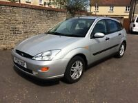 2001 FORD FOCUS 1.6 GHIA, TWO OWNERS, FULL SERVICE HISTORY, 12+ MONTHS MOT.