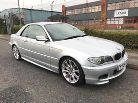 ***BMW 325CI SPORT HARDTOP/CONVERTIBLE MSPORT EXTRAS+FULL HEATED LEATHERS+FULL MOT+SERV HIST***£1990