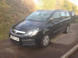 vauxhall zafira 1.6 recent mot and service and cam belt , full leather interior , new tyres