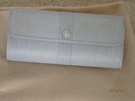 Jacques Vert Silver Grey Clutch Bag
