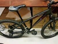 Unibike Mountain bike, black matt, 2 disc breaks