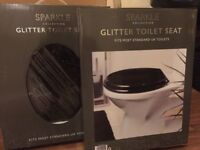 Brand New Black Glitter Toilet Seats
