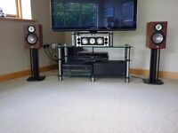 Elac Speakers Front left, Center, Front right, & 2 Rears