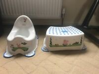 Peppa Pig potty and stool