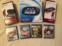 PS Vita console with games and cases fantastic Xmas present