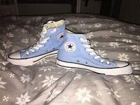 blue high top converse size 4