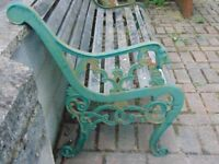 Vintage Lion Head Cast Iron Bench Ends