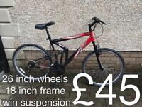 gents Mountain Bikes £40 - £320 mountain bike cycle commuter student mtb full working order