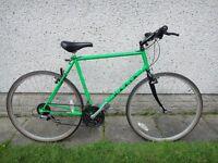 Marin Stinson retro vintage green bike 700 wheels 22 inch CR- MO frame 21 gears