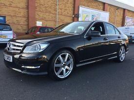 REDUCED! 2012 Mercedes Benz C250 1.8 CGI/Blue Efficiency Sports Saloon 4 dr Petrol Auto/Manual BLACK