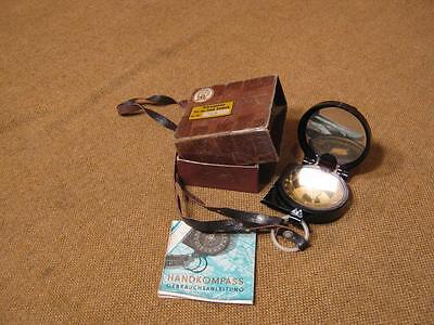 ▀█▀ ██ █▄ █▄ alter unbenutzter Kompaß mit Karton - um ca. 1950