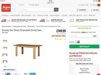 Brand New Extendable Oak Table with 4 Chairs