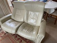 Two seater reclining sofa (leather)