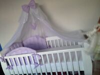 White sleigh cot bed for sale