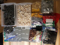 7.5kg Bundle mix Genuine Lego Bricks Parts Pieces Bulk Lot + Instructions + Minifig Pieces + Plates