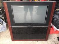 Philips old school big back tv with stand