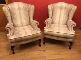 Gorgeous Wade Wingback Chairs