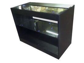 Glass Shop Counter 1200mm- Black Matt Finish/Ref: 0301