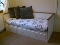 Lovely Day-bed with 3 drawers and 2 mattresses HEMNES (IKEA)