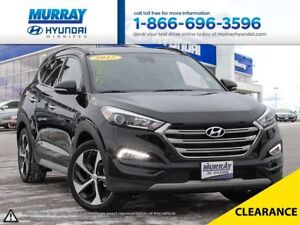 2017 Hyundai Tucson Ultimate AWD with remaining warranty and hea