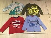 Boys long sleeved T shirt bundle age 3-4 years