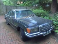 Classic Black Mercedes 450 SEL for sale