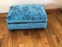 Crushed velvet footstool Laurence Llewelyn Bowen