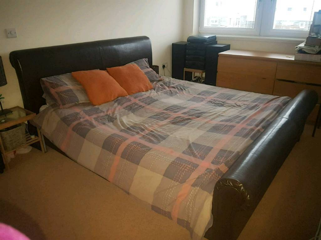 Archers Superking Brown Sleigh Bed In Bernauld Glasgow Gumtree