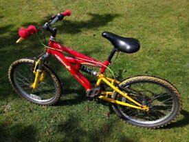 Emmelle Twister child's BMX with front & rear suspension, 5 gears revoshift, a quality bike!