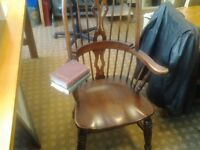 Antique Windsor lath high back fireside chair.