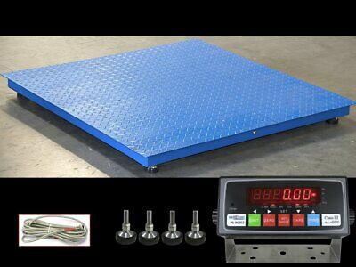 Ntep 48 X 48 4 X 4 Floor Scale Warehouse Industrial 2500 Lbs X.5 Lb
