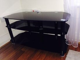 Black glass TV shelf for sale