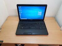 Toshiba Laptop Core i3-2330m Microsoft Windows 10 Office 4GB RAM Wifi 320GB HDD