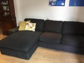 Large Dark Grey Kivik Sofa From Ikea