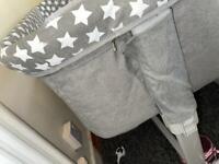 Grey stars next to me crib