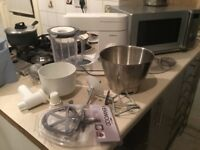 Kenwood Premier Chef Food Processor white, stand mixer with all attachements plus mill. Excellent