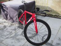 Planet X Stealth Carbon Triathlon TT Time Trial Bike - size small, Carbon wheels