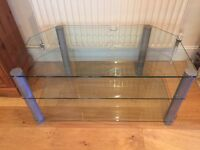 """Smoked glass TV stand for TVs up to 42"""""""