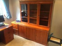 Solid Office Cabinet with Glass display