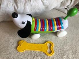 Pull along alphabet dog