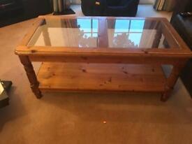 Vintage solid pine coffee table