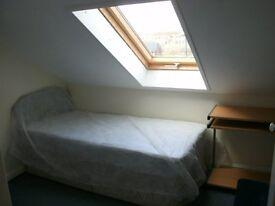 single attic furnished room drewry lane £60 pw inc bills
